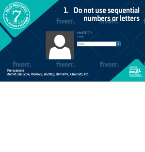 Best practices for strong password  Tip#1