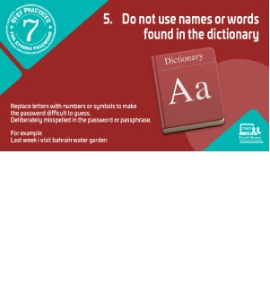 Best practices for strong password Tip#5